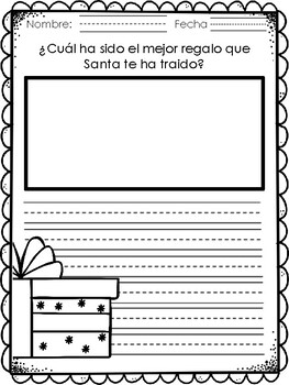 FREE December Writing Prompts in Spanish
