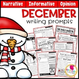 December Writing Prompts | Real-World & Draw & Write Formats | PDF & GOOGLE