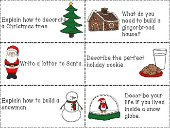 December Writing Prompts {including papers}