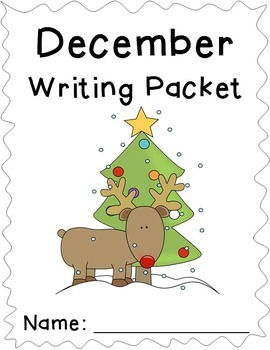 December Writing Prompts - December Themed Writing Prompts Journal (Gr. K-2)