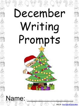 December Writing Prompts on Themed Paper {Just Print & Go!}