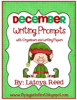 December Writing Prompts with Organizers and Papers