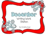 December Writing Station