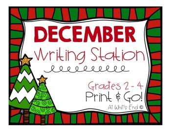 December Writing Station