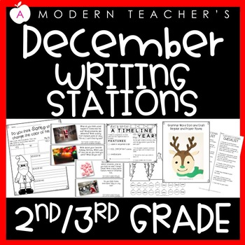 December Writing Stations Engaging