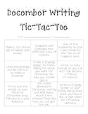 December Writing Tic-Tac-Toe