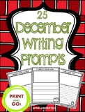 December Writing and Drawing Prompts: 25 Prompts, Draw and Write