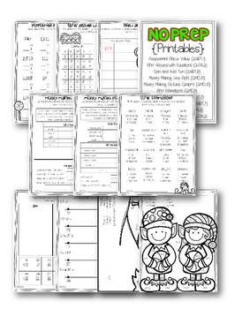 December Writing and Math Bundle