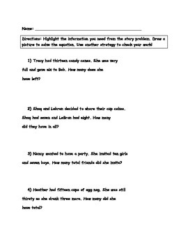 December addition and subtraction story problems