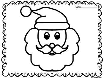 December and Christmas Coloring Pages or Coloring Sheets