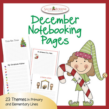 December Notebooking and Christmas Writing Papers