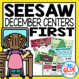 December and Christmas Seesaw Activities for 1st grade