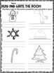 December and Christmas Vocabulary Words and Center Activities