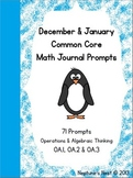 December and January Math Journal Prompts