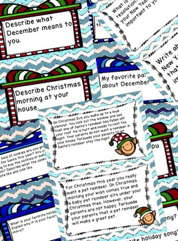 December and January Writing Prompts for the Common Core Classroom