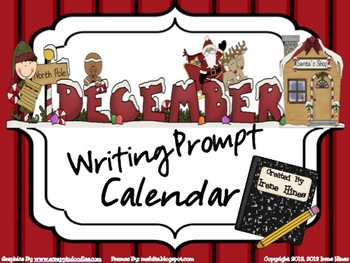 December and Winter Writing Prompt Calendar ~ {Common Core Standards}