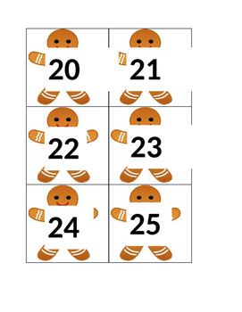 December gingerbread numbers