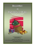December in Alphabetical Order