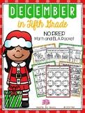 December in Fifth Grade (NO PREP Math and ELA Packet)