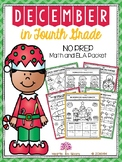 December in Fourth Grade (NO PREP Math and ELA Packet) - D