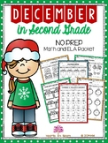 December in Second Grade (NO PREP Math and ELA Packet)