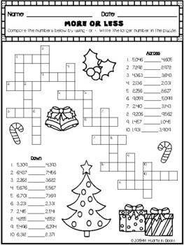 December in Third Grade (NO PREP Math and ELA Packet)