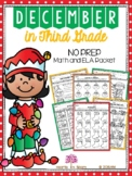 December in Third Grade (NO PREP Math and ELA Packet) - Di
