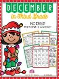 December in Third Grade (NO PREP Math and ELA Packet)