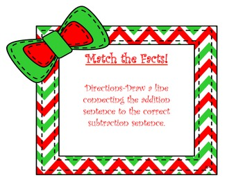 December is coming to town! Math and Literacy Activities