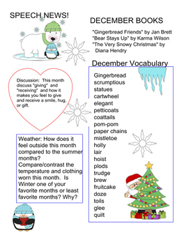 December lesson plan and stories