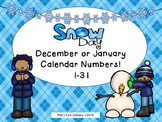 December or January Calendar Numbers