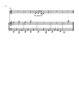 December - original unison choral piece
