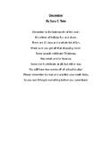 December poem