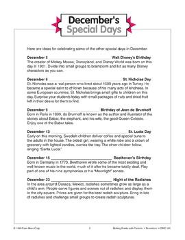 December's Special Days