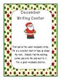 December writing center