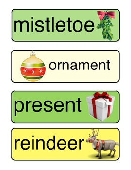 December/Christmas ABC Order Activity