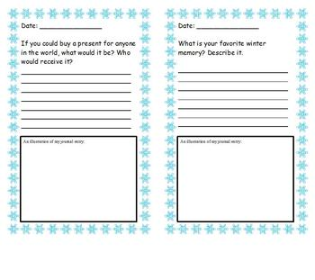 December/Christmas/Winter Journal Writing Prompt Booklet
