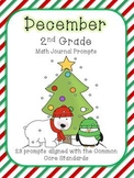 December/Winter 2nd Grade Common Core Math Journal Prompts