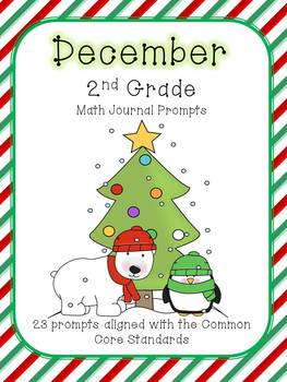December/Winter 2nd Grade Common Core Math Journal Prompts
