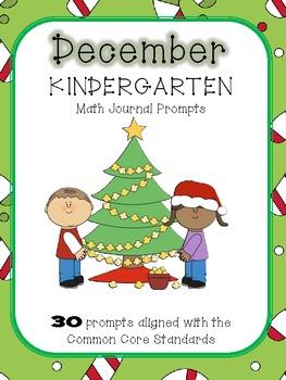 December/Winter Kindergarten Common Core Math Journal Prompts