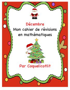 Décembre : cahier de révisions en math