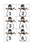 Decemeber Snowman Numbers