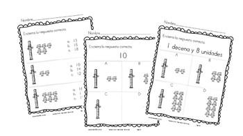 Decenas y unidades:  Tens & Ones PLACE VALUE SPANISH & ENGLISH