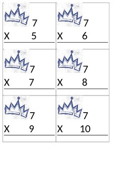 Decendants Multiplication Flash Cards (6's - 12's)