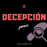 Decepción: Spanish Irregular Preterite Game