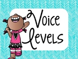 Decibella and her 6-inch Voice { Teal Voice Level Posters & Practice Activity }
