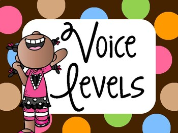 Decibella and her 6-inch Voice { Dots on Chocolate Posters & Practice Activity }