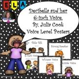 Decibella and her 6-inch Voice Volume Posters
