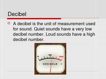 Decibels / Sound Levels Powerpoint