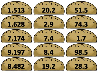 Deciburgers - A Rounding Decimals Matching Game